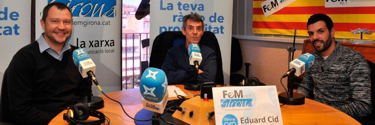 Imatge destacada de la notícia de l'entrevista a la ràdio FeM Girona.
