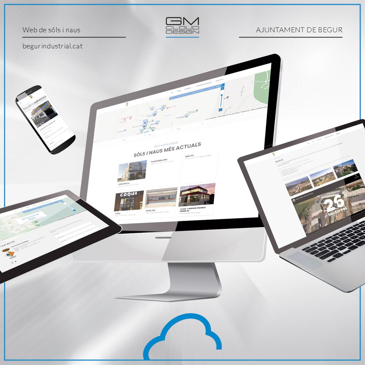 Muntatge del lloc web begurindustrial.cat