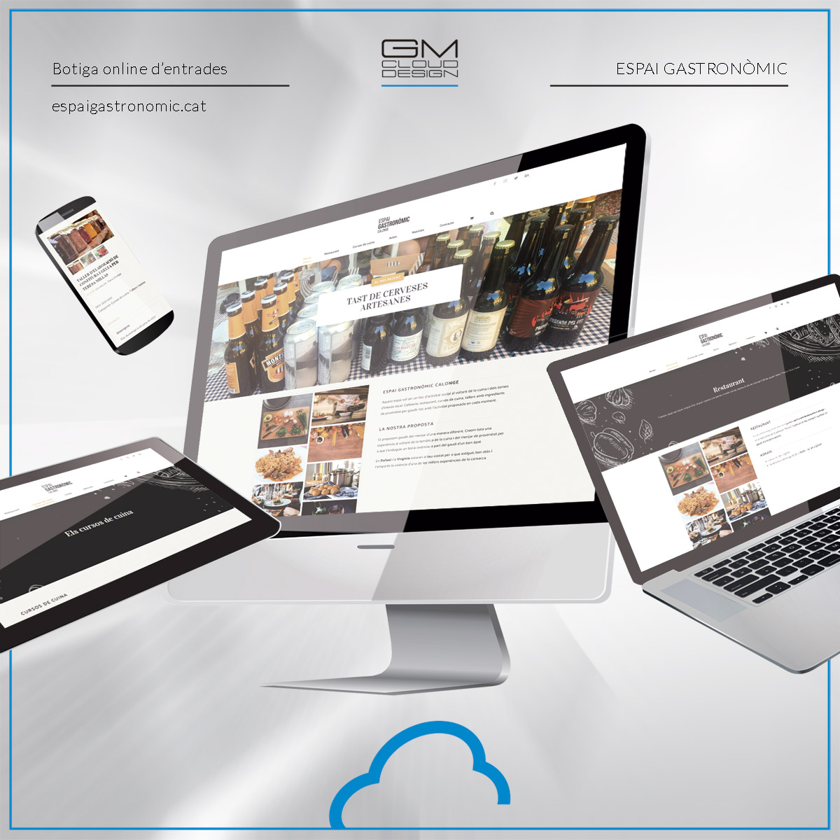Muntatge de la botiga online espaigastronomic.cat